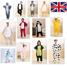 Animal Unisex Onesie Kigurumi Fancy Dress Costume Hoodies Pajamas Sleep wear UK