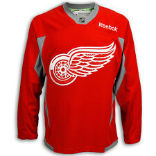 2013-14 Detroit Red Wings Red Practice Jersey by Reebok