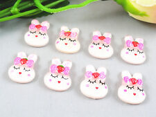 50/100xWholesale Resin Rabbit Flat back Resin Buttons Scrapbooking DIY Appliques
