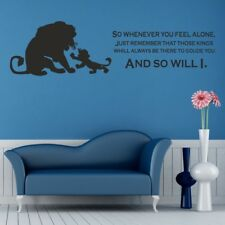 LION KING wall art sticker disney kids nursery bedroom decal quote vinyl decor