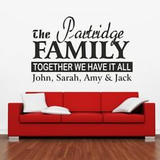 FAMILY wall art sticker personalised lettering quote decals stickers vinyl decor