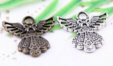 Wholesale 12/30Pcs Tibetan Silver/Bronze(Lead-Free)Angel Charms Pendants 26x24mm