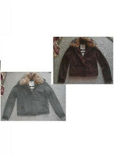 NWT $148  Abercrombie & Fitch LUCINDA Faux Fur Jacket     brown or olive green