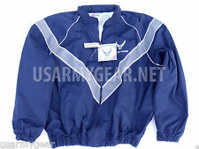 USAF Air Force Physical Fitness Training PT windbraker Lined Rain Jacket Hood GI