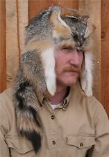 GRAY FOX MOUNTAIN MAN STYLE FUR HAT MADE IN MONTANA, USA!