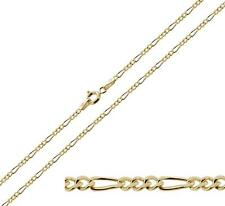 """18ct Gold Plated on 925 Silver 16 18 20 22 24"""" Inch 1.5mm Figaro Chain Necklace"""