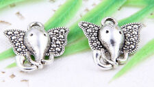Wholesale 32/76Pcs Tibetan Silver(Lead-Free)Elephant Charms Pendants 16x15mm