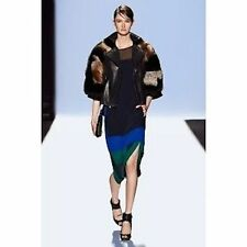 NWT BCBG MAXAZRIA  RUNWAY COLOR BLOCK IVEY DRESS SIZE XS