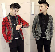 High Quality Men's Casual Single Breasted Slim Fit Casual Blazers Coat Jacket