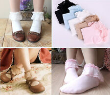 Sweet Fashion women Ladies Princess Girl Vintage Lace Ruffle Frilly Ankle Socks