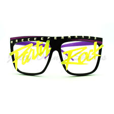 LMFAO Party Rock Glasses Studded Flat Top Oversized Frame