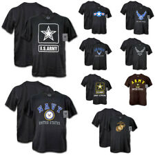New US Military Army Air Force Marines Navy Logo Graphic T-Shirt T-Shirts Tees