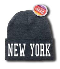 "FOR MEN WOMEN ""NEW YORK"" NYC FUNNY HOP Snowboard Ski Long Beanie HAT ONE SIZE"