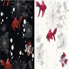 NEW LUXURY RASCH RED FISH TEXTURED EMBOSSED KITCHEN BATHROOM VINYL WALLPAPER