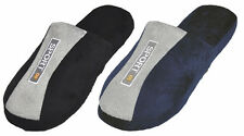 MEN'S HOUSE SLIPPERS - BLACK OR NAVY COLORS -  INDOOR HOME STREET GIFT -1516-1