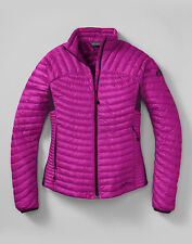 New Eddie Bauer First Ascent Women's Microtherm Down Shirt Magenta NWT Coat