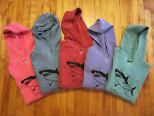 GREAT WHITE SHARK Hoodie Sweat Shirt Women's Front Slit COMFORT COLORS