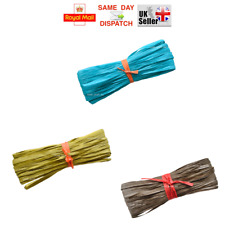 1 50 100m - 23 COLOURS Raffia Paper Gifts Ribbon Decorating Scrapbooks CHEAPEST