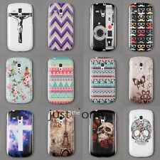 Colorful Pattern Back Skin Fitted Case Cover for Samsung Galaxy S3 mini i8190