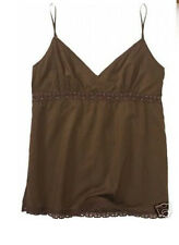 NWT Aeropostale Brown Cami BEADED PRETTY