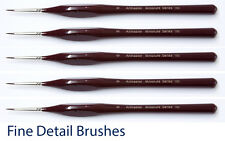 Extra Fine Detail Paint Brushes - 6 Sizes | Artists & Modelmakers Brush