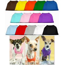 Dog Shirts - Clothing for Dogs - Plain Color Tee Shirts for Puppy Dogs - XS-6XL