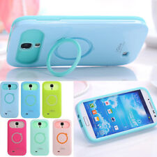 Iglow Dual Color Hybrid Back Stand Case Cover For Samsung Galaxy SIV S4 i9500
