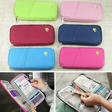 Hot Travel Passport Credit ID Card Cash Holder Organizer Wallet Purse Case Bag Q