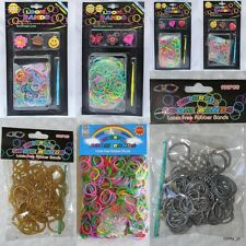 Rainbow LOOM BANDS Jelly Silicone CHOOSE Metallic Gold Silver Glow Dark Tie Dye