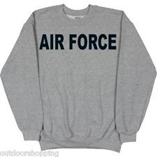 HEATHER GREY US AIR FORCE IMPRINTED SWEATSHIRT – Winter, USAF, Round Neckline