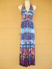 Sexy New Bandeau Halter Maxi Summer Dress Cruise Party Butterfly Blue Red