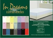 "Euro Double size 140cm x 200cm (55""x 78"") bed fitted sheet 10""box depth 68pick"