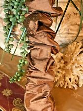 DESIGNER Chandelier Chain Cord Cover~VELCRO~Tan Silk (3 FT) (6 FT) (9 FT)