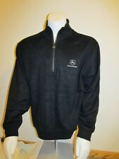 New! JOHN DEERE Tractor Mens Light Weight 1/4 Zip Pullover Jacket