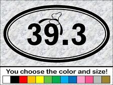 Disney World 39.3 Goofy Challenge Run Hat Mouse Oval Sticker Vinyl Decal Car