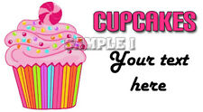 Personalised Cupcake Stickers for Party Bags/Sweet Cones etc Add Your Text  01-A