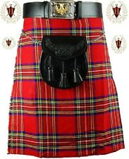 Royal Stewart 5 Yard 10oz Traditional Mens Scottish Tartan Highland Kilt