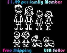 Family Stick Figure Decal Car Window Sticker $1.49 per Figure!!! custom