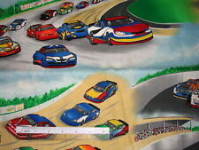 *Choose design Race Cars Flags checks cotton quilting fabric  *size