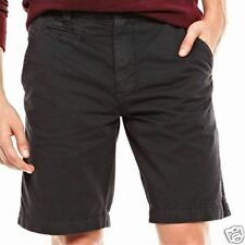 Men's Arizona Flat-Front Twill Shorts Black Carbon Color Size 42W New With Tags