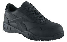 Reebok Mens Composite Safety Toe Athetic Oxford Shoes Sneakers Black RB1945