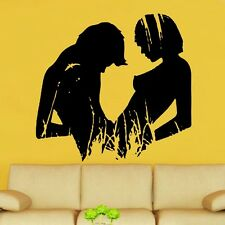 Couple In Lust Silhouette Decal Vinyl Wall Sticker (ROM16)