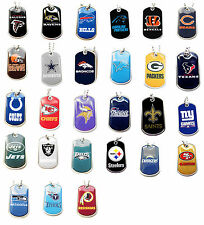 NFL DOG TAG NECKLACE PICK YOUR TEAM