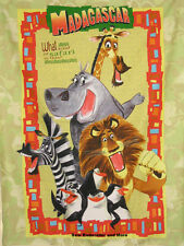 *Choose* Madagascar set of 2 pillow panel or large panel cotton quilting fabric