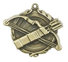 Archery Award Medal, Archery Medallion  Neck Ribbon & Personalization Included