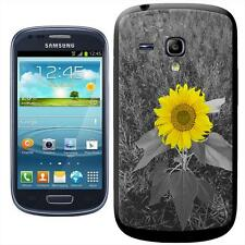 Bright Yellow Sunflower In Grey Fields Hard Case For Samsung Galaxy S3 Mini