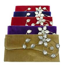 COLORED VELVET ENVELOPE, PURSE, EVENING CLUTCH BAG WITH BEAUTIFUL STUDDED PIECE