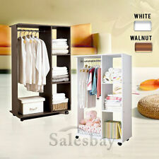 Wardrobe closet Cabinet Shelves organiser storage rack hangers bedroom furniture