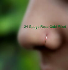 Extra Small 14K Rose Gold Filled Nose Ring/Hoop Earring/Tragus/Helix 24Gauge 7mm