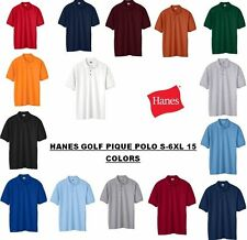 Hanes ComfortSoft Cotton Pique Polo Sport Shirt Golf Sizes (S-6XL)